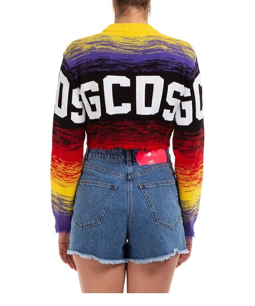 Women's jumper sweater crew neck round logo crop secondary image