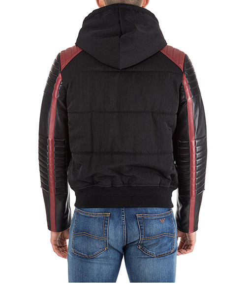 Men's outerwear jacket blouson in pelle cappuccio secondary image