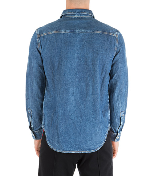 Chemise à manches longues homme in denim jeans secondary image