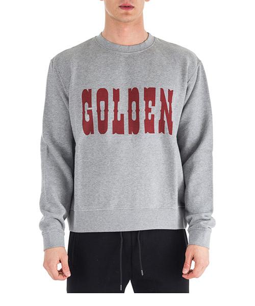 Sweat Golden Goose Alfred G32MP558.A2 melange grey