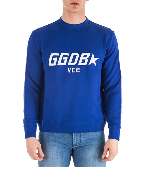 Sweatshirt Golden Goose Luke G33MP558.B2 bluette