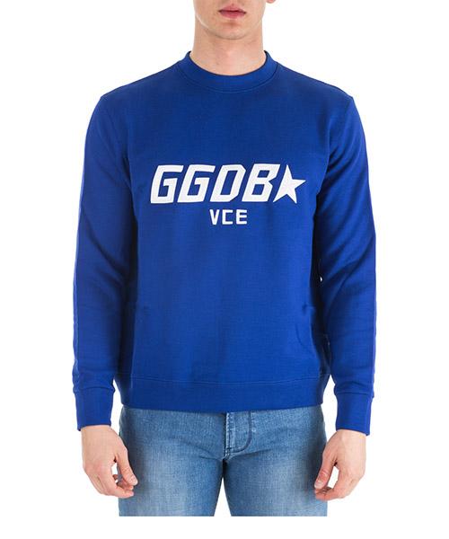 Felpa Golden Goose Luke G33MP558.B2 bluette