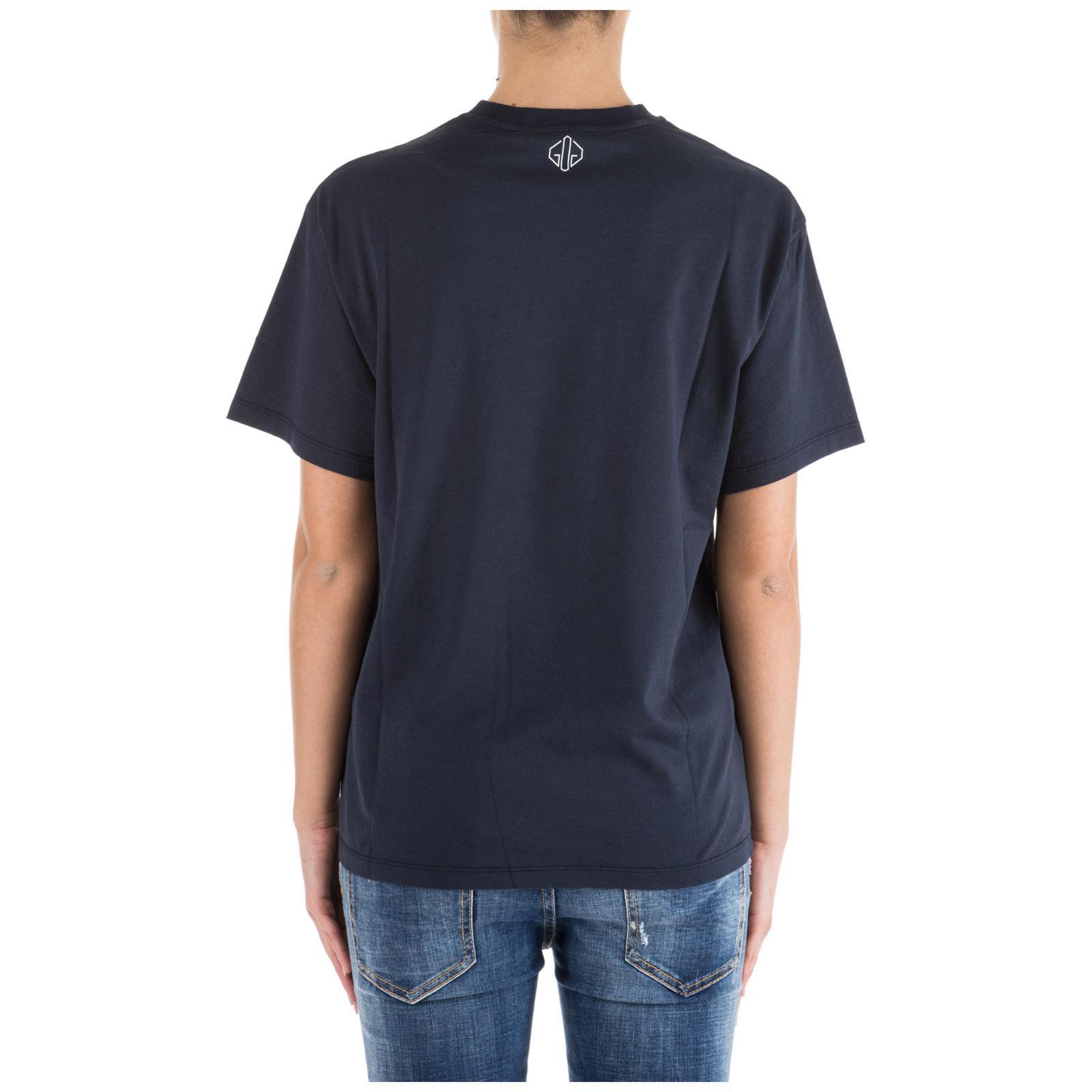 Women's t-shirt short sleeve crew neck round golden