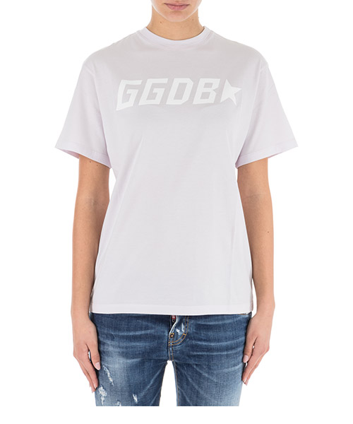 T-shirt Golden Goose Golden G34WP024.C1 lilac / ggdb star
