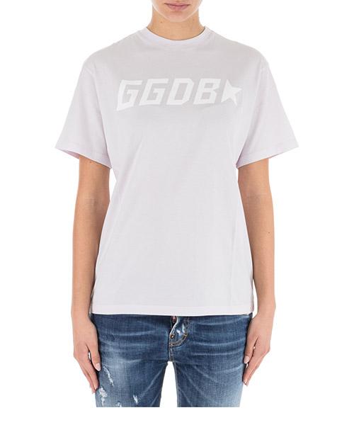 T-shirt Golden Goose golden g34wp024.c1 lilac / ggdb star