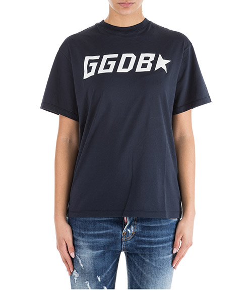 T-shirt Golden Goose Golden G34WP024.C3 dark navy / ggdb star