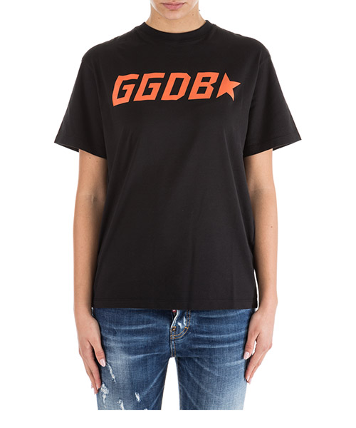 T-shirt Golden Goose Golden G34WP024 C4.BLACKGGGDBSTAR nero