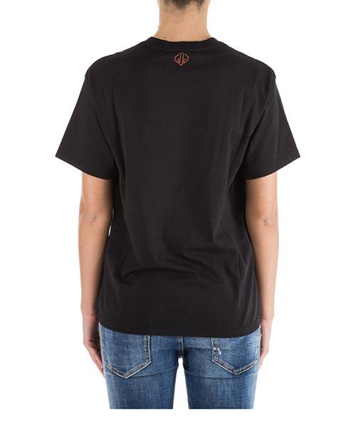 Women's t-shirt short sleeve crew neck round golden secondary image