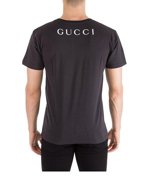 T-shirt Gucci 493117 XJAKE 1142 nero T-shirt maglia maniche corte girocollo  uomo secondary image 6f3ac057958f