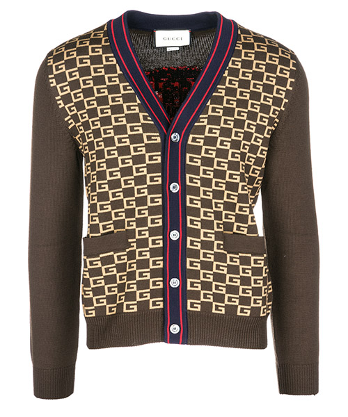 Cardigan Gucci 522543X9U222097 marrone