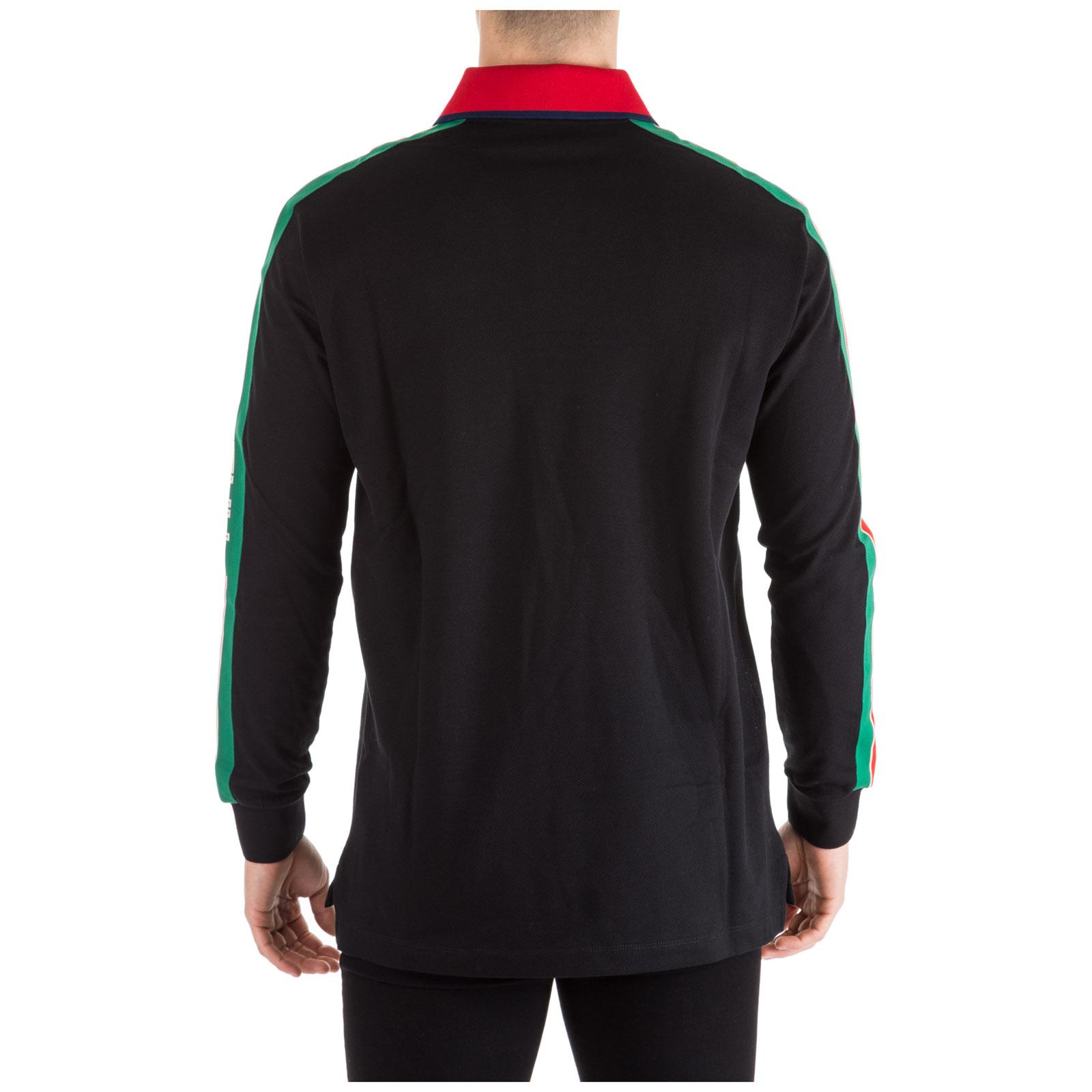 51e2a950903 Long sleeve polo shirt gucci xjag nero jpg 1600x1600 Gucci collar shirt