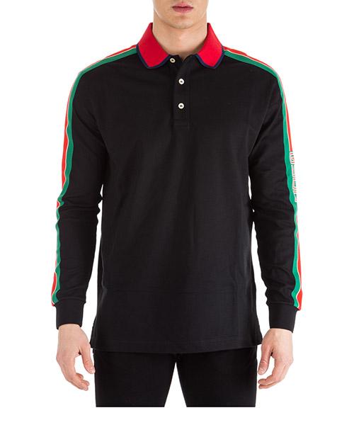 Polo manica lunga Gucci 545784 XJAG4 1004 nero