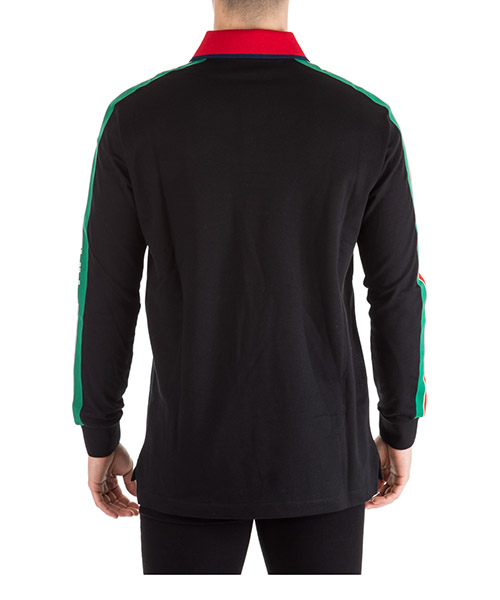 Men's long sleeve t-shirt polo collar secondary image