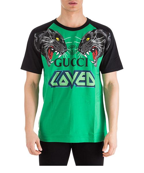 T-shirt Gucci 549099 XJAI1 3733 verde