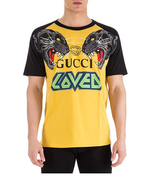 T-shirt Gucci 549099 XJAI1 7791 giallo