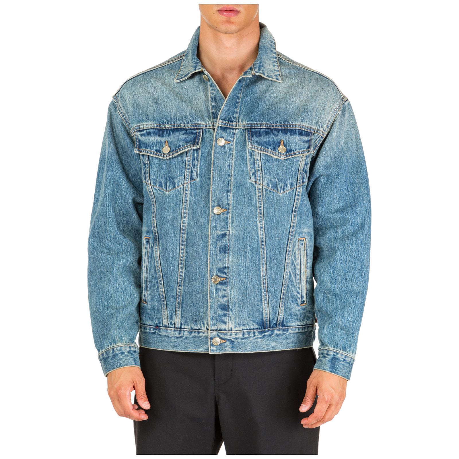 Men's denim outerwear jacket blouson jesus