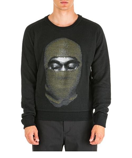 Suéter Ih Nom Uh Nit Kanye Mask NMW19208 nero