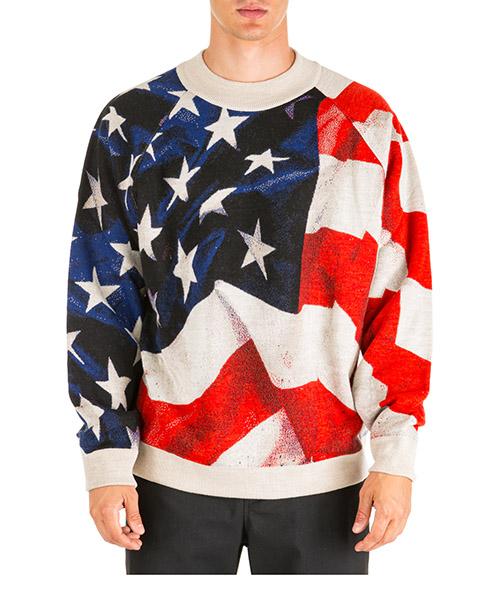 Maglione Ih Nom Uh Nit american flag nmw19209 beige