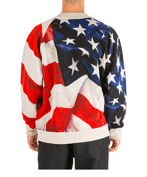 Pull ras du cou homme american flag oversize fit secondary image