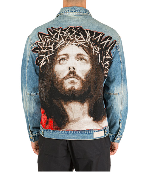 Men's denim outerwear jacket blouson jesus