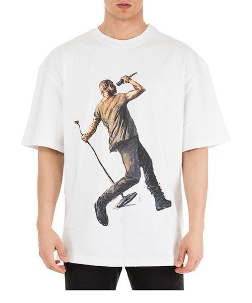 T-shirt Ih Nom Uh Nit Kanye Drake NUS19236 bianco