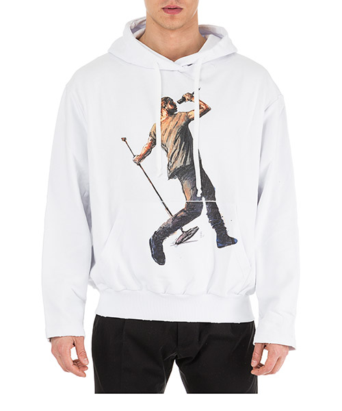 Kapuzensweatshirt Ih Nom Uh Nit Kanye Drake NUS19238 bianco