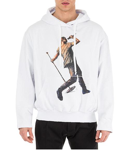 Толстовка с капюшоном Ih Nom Uh Nit Kanye Drake NUS19238 bianco