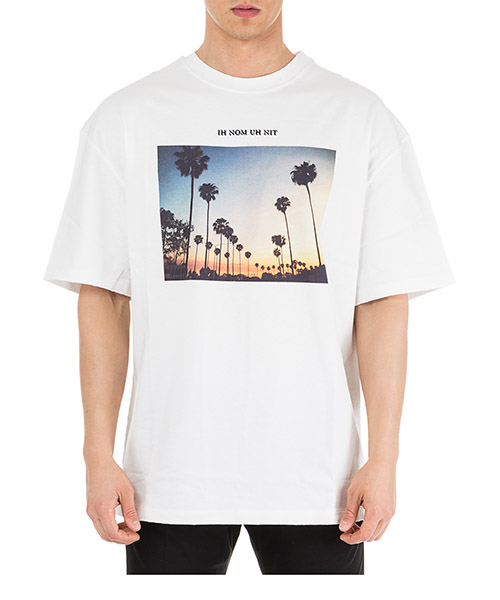 T-shirt Ih Nom Uh Nit Sunset NUS19240 bianco