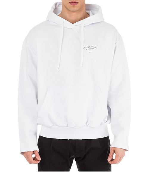 Kapuzensweatshirt Ih Nom Uh Nit Couture Atelier NUS19275 bianco