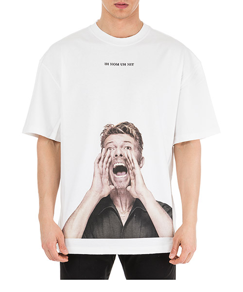 T-shirt Ih Nom Uh Nit Bowie scream NUS19280 bianco