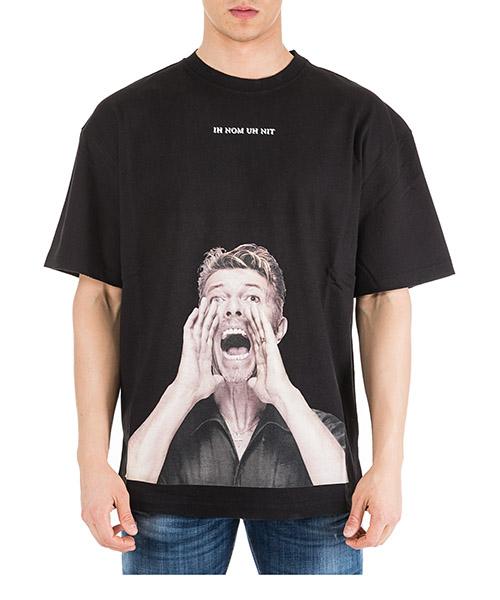 T-shirt Ih Nom Uh Nit Bowie scream NUS19280 nero