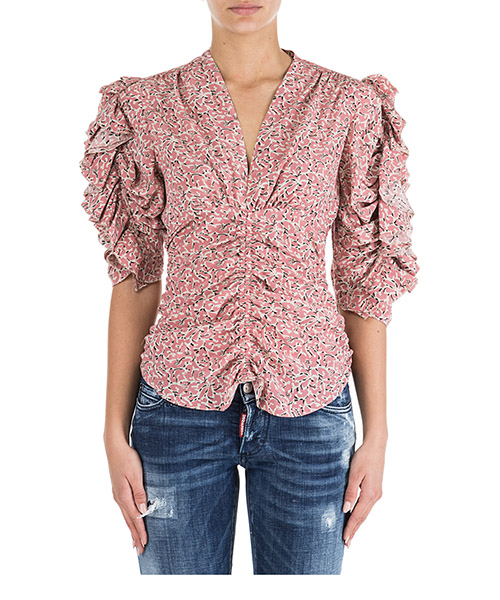 Camisa de mangas cortas  Isabel Marant HT130440PK rosa