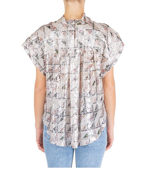 Camicia donna maniche corte blusa secondary image