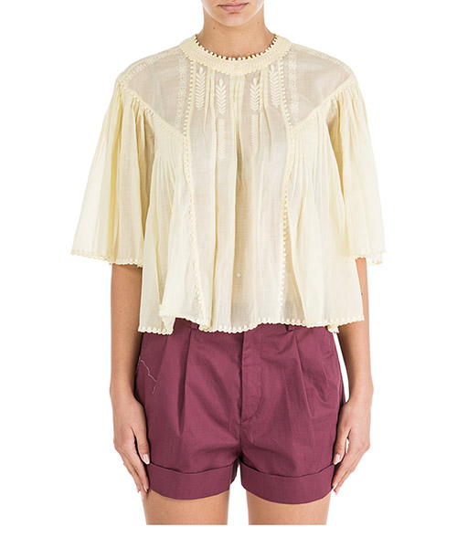 Top Isabel Marant Étoile Algar HT133410LY giallo