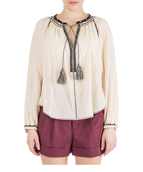 Camisa Isabel Marant Étoile Rina HT133623EC beige
