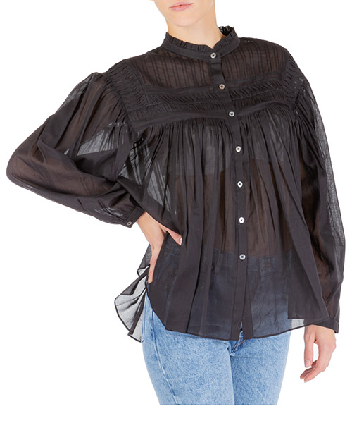 Camicia Isabel Marant Étoile lalia ht150201bk nero