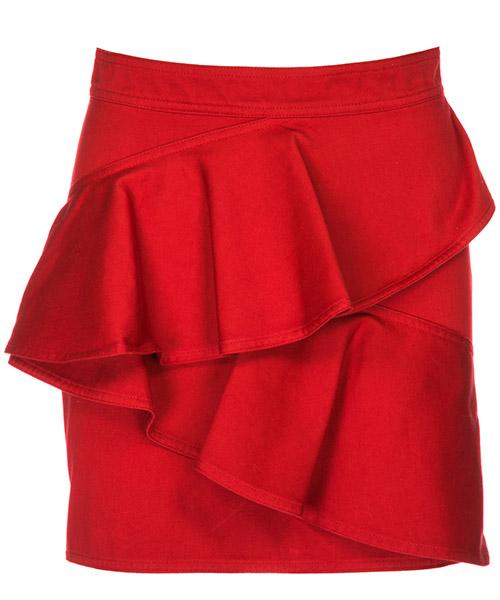 Falda Isabel Marant Étoile JU082770RD rosso