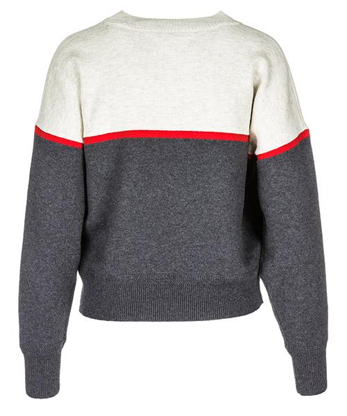 женский свитер с круглым вырезом джемпер круглый вырез paradise secondary image