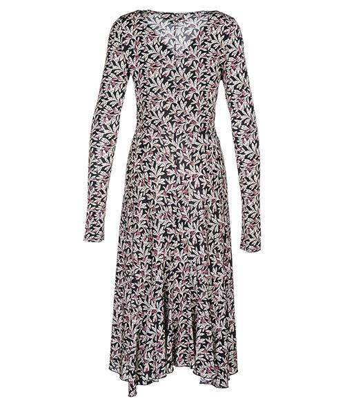 Women's calf length dress long sleeve secondary image