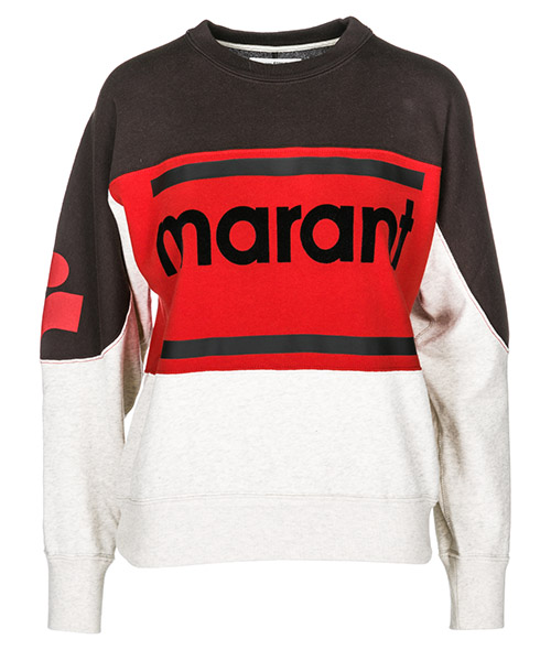Sweatshirt Isabel Marant Étoile SW0061FKEC red / black