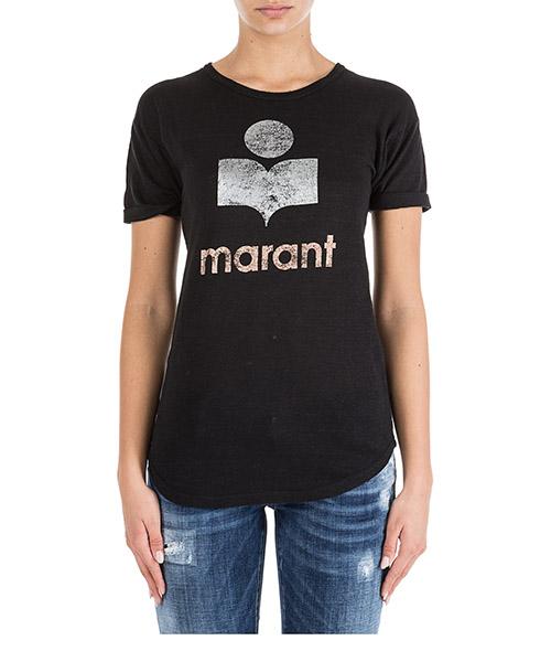 0259f7427626e T-shirt Isabel Marant Étoile Koldi TS029908E01BK nero Women s ...