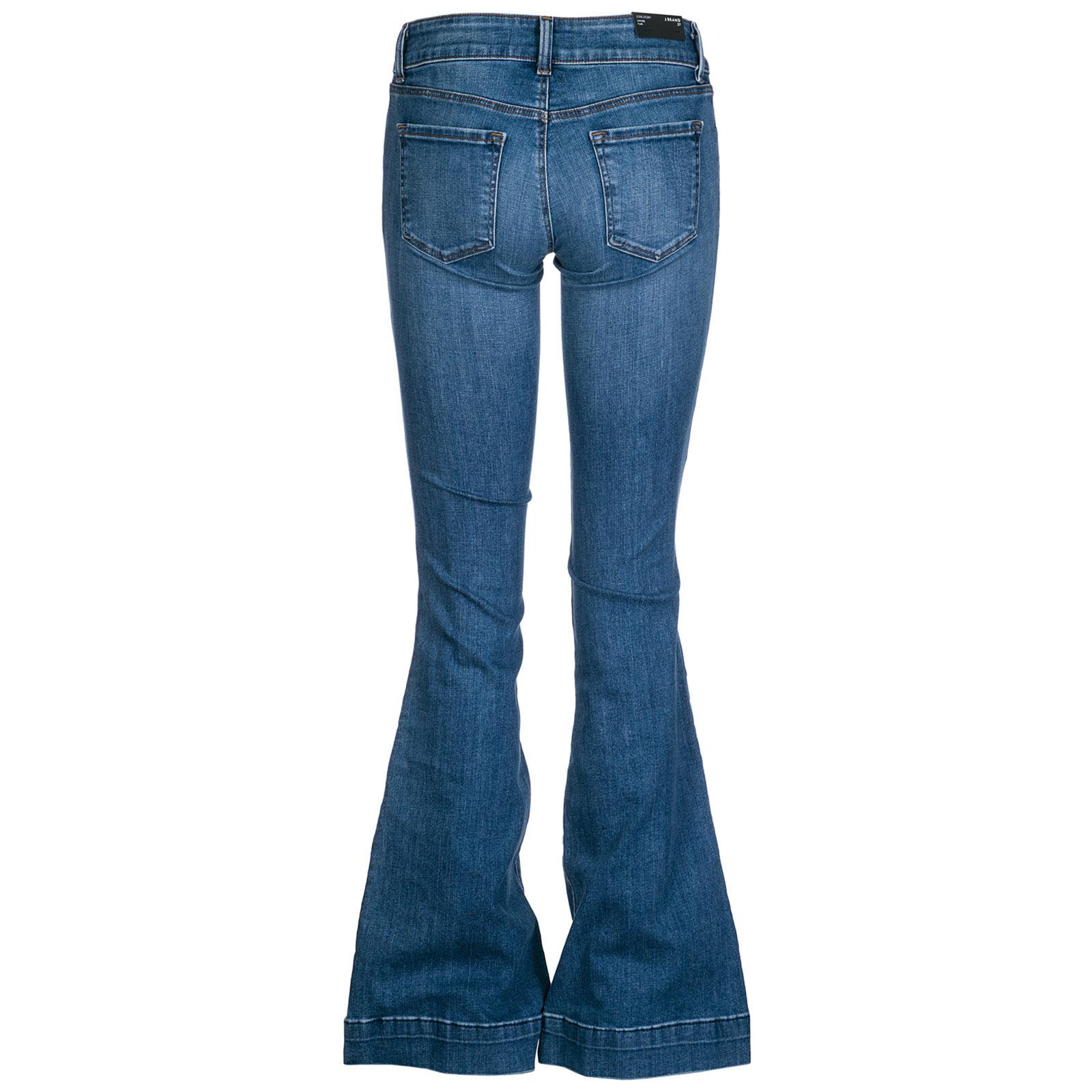 77827433755 ... Jeans de campana flare de mujer love story