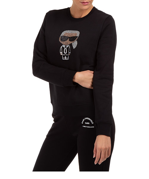 Sweatshirt Karl Lagerfeld ikonik 205w1802 nero