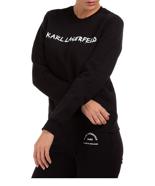 Sweatshirt Karl Lagerfeld graffiti logo 206w1800 nero