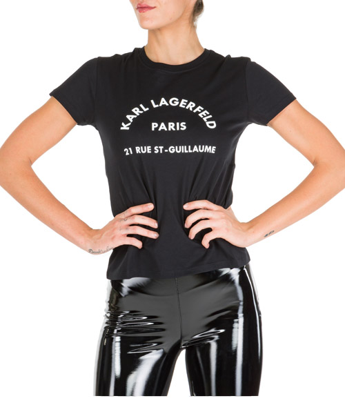 T-shirt Karl Lagerfeld 96kw1730 nero