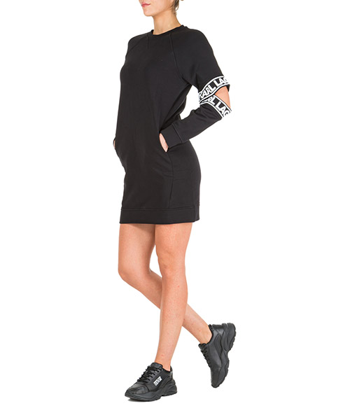Knielange Kleider Karl Lagerfeld 96kw1809 nero