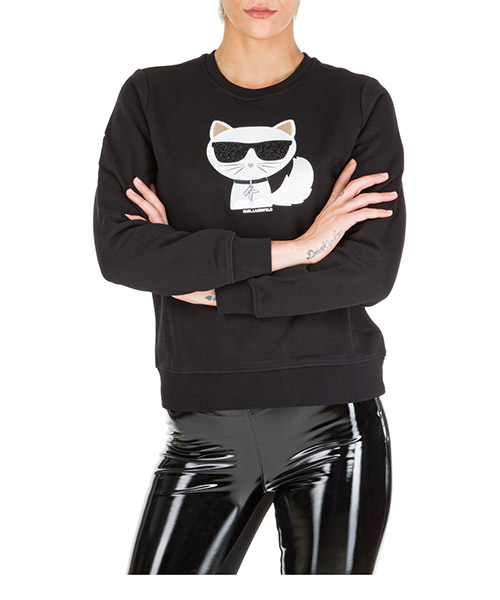 Felpa Karl Lagerfeld choupette 96kw1822 nero