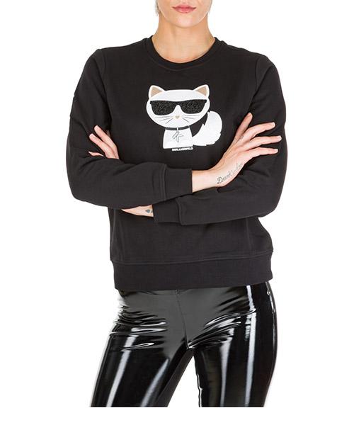 Sweatshirt Karl Lagerfeld choupette 96kw1822 nero