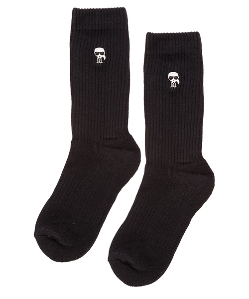 Ankle socks Karl Lagerfeld k/ikonik 96kw6003 black/white