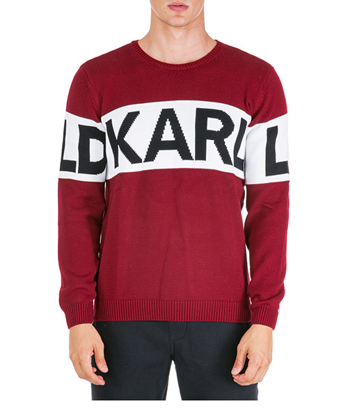 Maglione Karl Lagerfeld 655046592301 rosso